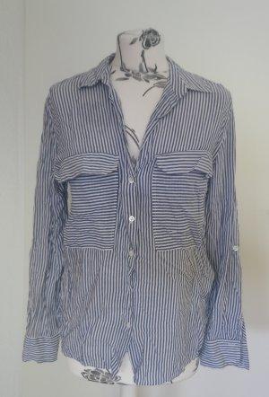 Blaue gestreifte  Bluse Zara M
