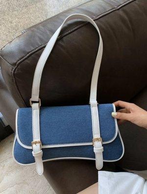 Blaue Handtasche (Jeansoptik)
