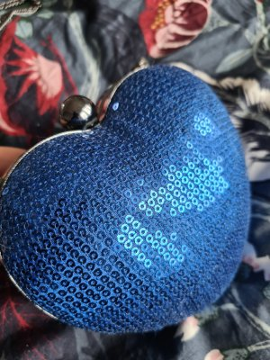 Blaue Herz Clutch
