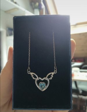 unknown Necklace silver-colored-azure