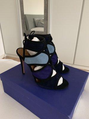 Aquazzura Sandaletto con tacco alto blu-blu scuro