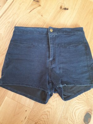 Pull & Bear High-Waist-Shorts blue