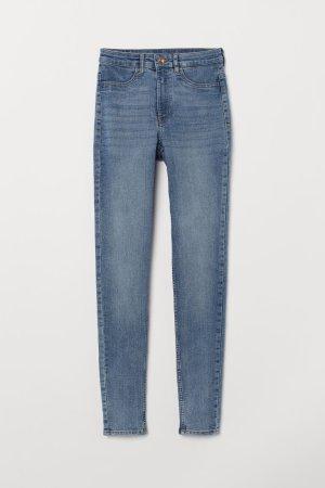 Blaue High waist h&m skinny Jeans