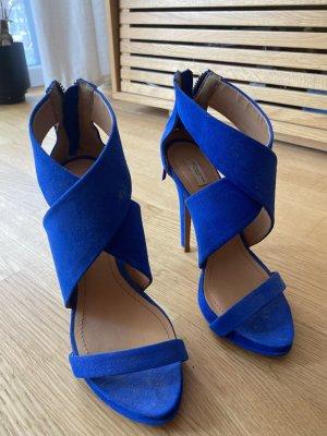 Blaue Highheels, 12cm Absatzhöhe, 1x getragen