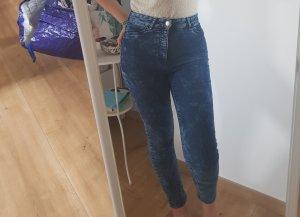 Blaue Highwaisted Jeans von H&M Divided Größe 36