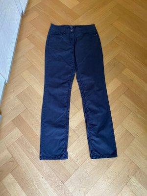 Atelier Gardeur Pantalon taille haute bleu foncé lyocell