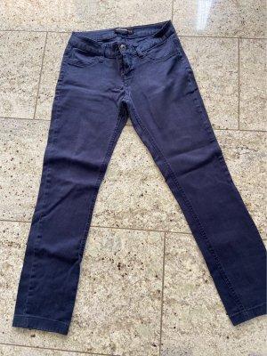 Fishbone Pantalone a pieghe blu scuro
