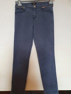 123 Paris Spodnie z wysokim stanem szary niebieski
