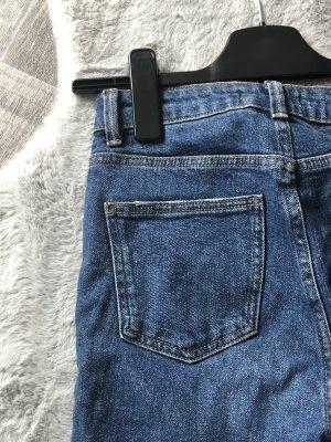 Primark Boyfriend Trousers dark blue-blue