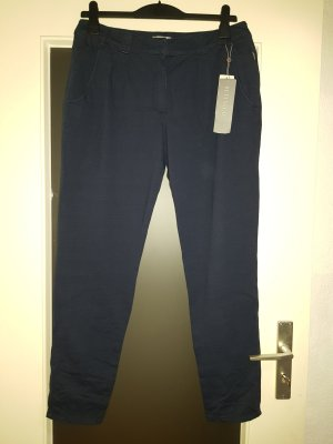Betty & Co Stoffen broek donkerblauw