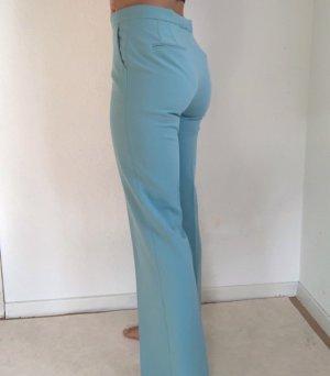 Zara Pantalone a vita bassa azzurro-blu fiordaliso