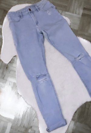 Blaue hose jeans destroyed ripped blue h&m
