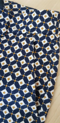 Alba Moda Spodnie materiałowe ochra-ciemnoniebieski