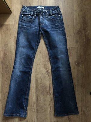 Redial Pantalone a zampa d'elefante blu acciaio-blu