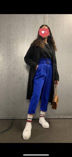 Stradivarius Pantalon taille haute bleu