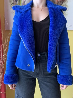 Bershka Biker Jacket blue