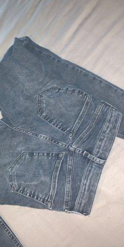 Blaue Jamie Jeans mit hoher Taille von Topshop