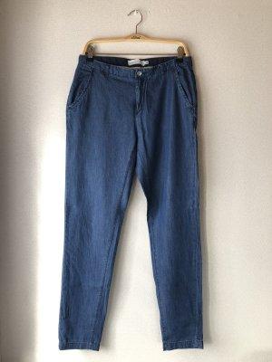 H&M Pantalón boyfriend azul oscuro-azul