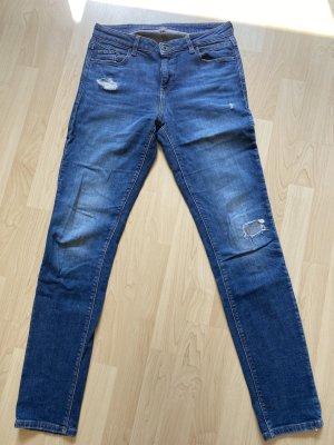 Esprit Jeansy z prostymi nogawkami niebieski Bawełna
