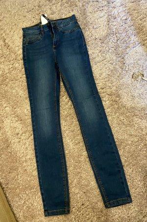 Noisy May High Waist Jeans dark blue