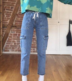 Blaue Jeans boyfriend Workwear denim