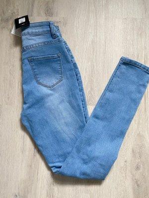 Fashion Nova Pantalón de cintura alta gris pizarra-azul celeste