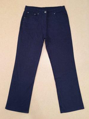 blaue Jeans Hose, lang, high waist, Gr. 21 (entspr. Gr. 42)