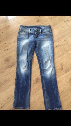 Freesoul Jeans taille basse bleu acier