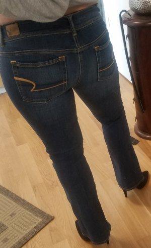 American Eagle Outfitters Boot Cut spijkerbroek blauw-donkerblauw Katoen