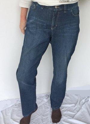 blaue  Jeans von Bogner im used Look, Größe 46