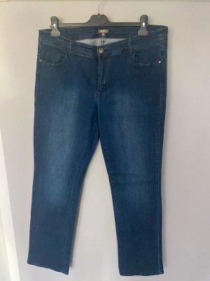 GDM Jeans cigarette bleu-bleu fluo coton