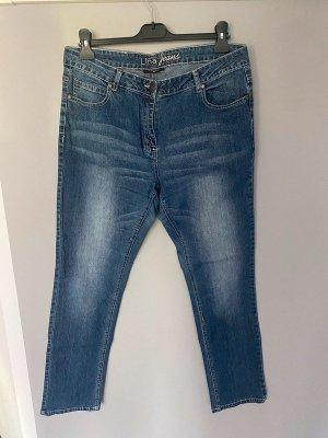 Gina Benotti Jeans cigarette bleu acier-bleuet coton