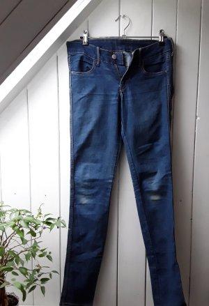 H&M Pantalón de tubo azul-azul acero