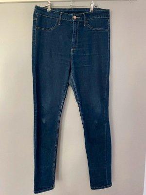 Blaue Jeans von H&M Skinny High Waist Ankle, Gr. 31