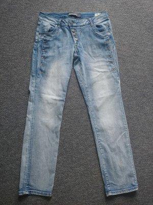 Jeans boyfriend multicolore Cotone