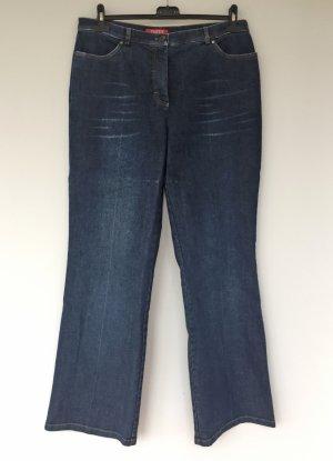 Taifun Pantalon cinq poches bleu foncé coton