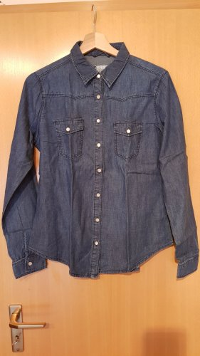 Denim Co. Blusa denim blu