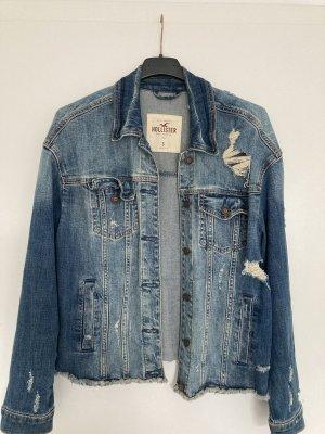 Hollister Jeansowa kurtka stalowy niebieski