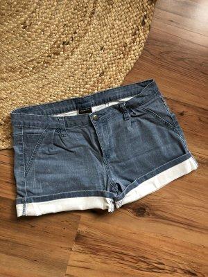 Pieces Short en jean blanc-bleuet