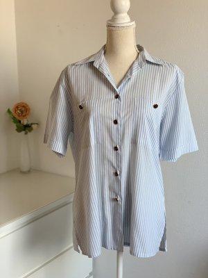Blaue Kurzarm-Bluse von Miss Astor Gr. 40
