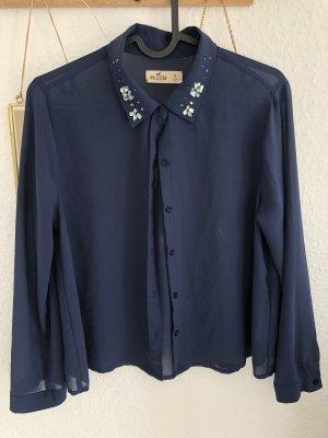 Blaue kurze Bluse, Größe S
