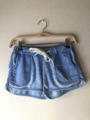 Primark Pantalón corto deportivo blanco-azul neón