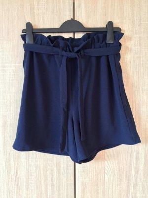Only High waist short blauw-donkerblauw Gemengd weefsel