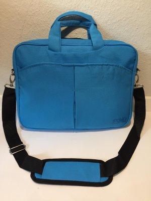 Laptoptas neon blauw