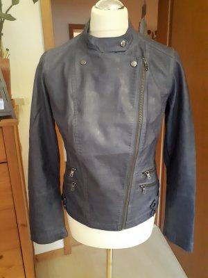 Boysen's Veste motard gris ardoise faux cuir