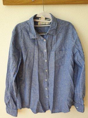 H&M L.O.G.G. Blouse en lin bleu azur