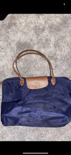 Blaue Longchamp in Größe L
