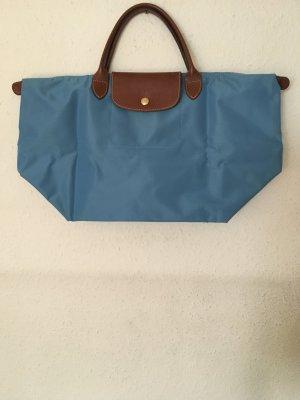 blaue Longchamp-Tasche Le Pliage