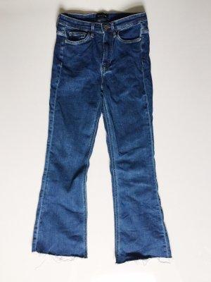 Blaue Massimo Dutti High waist, flared Jeans