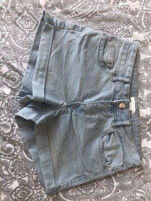 Blaue midwaist Shorts von H&M